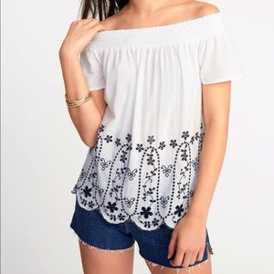 NWT Old Navy Eyelet Embroidered Top